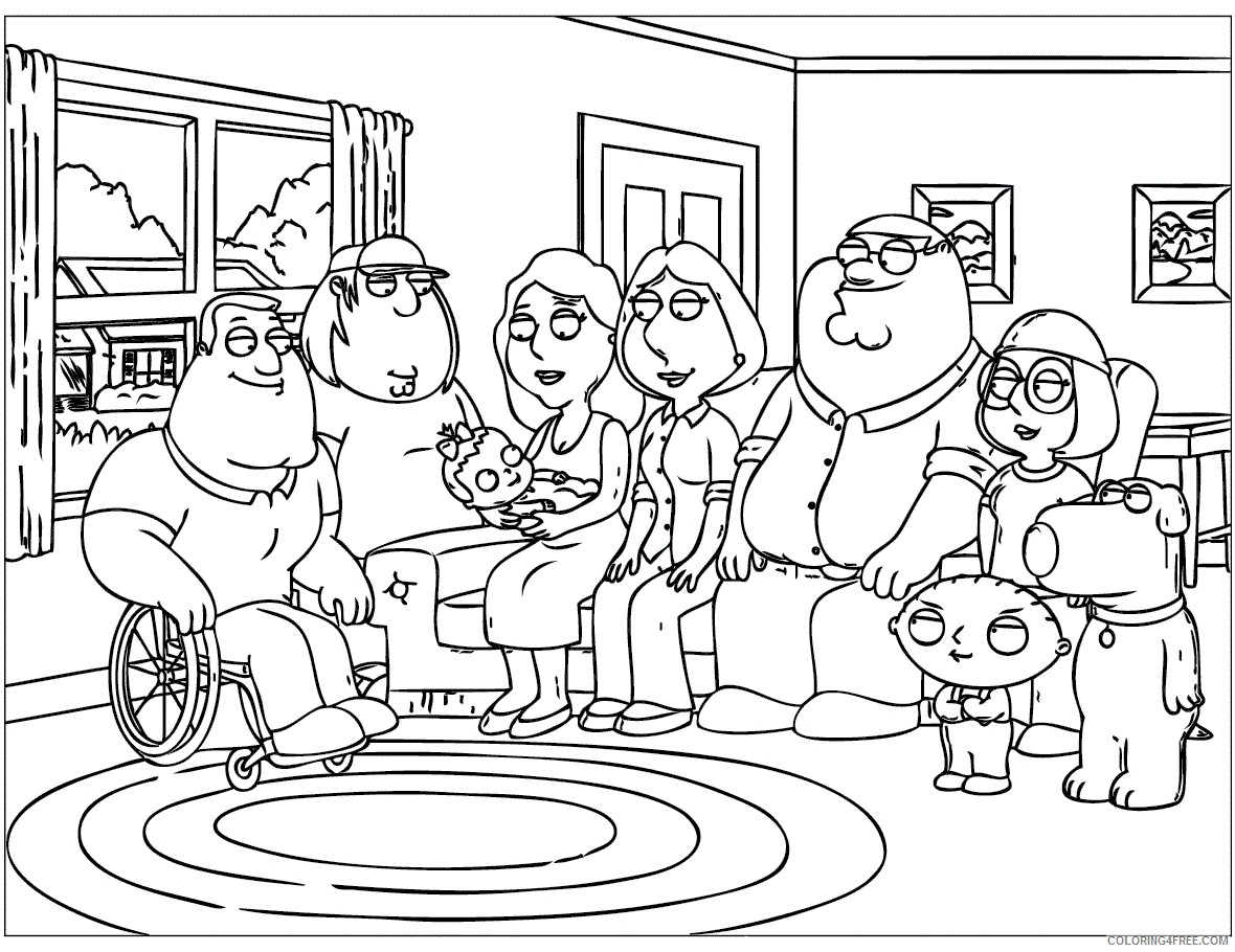 printable family guy coloring pages Coloring4free