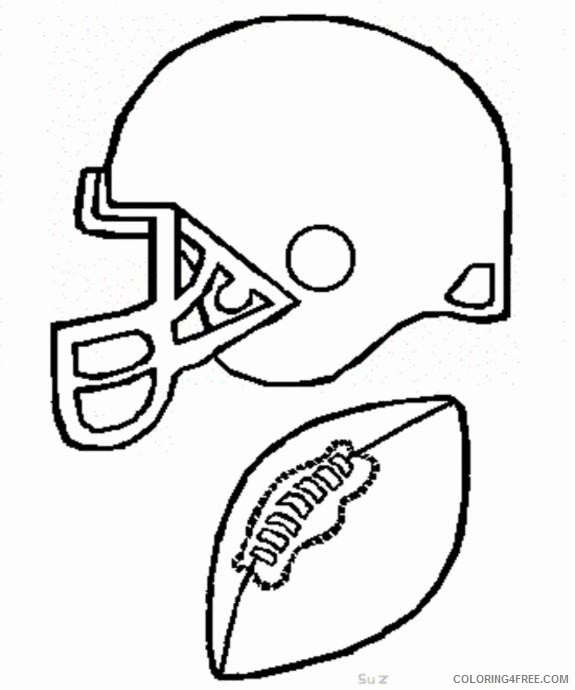 printable football coloring pages Coloring4free
