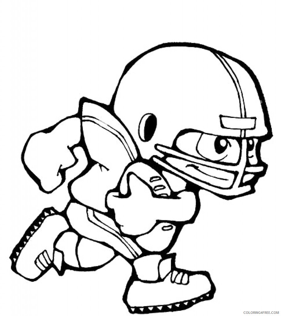 printable football player coloring pages for kids Coloring4free