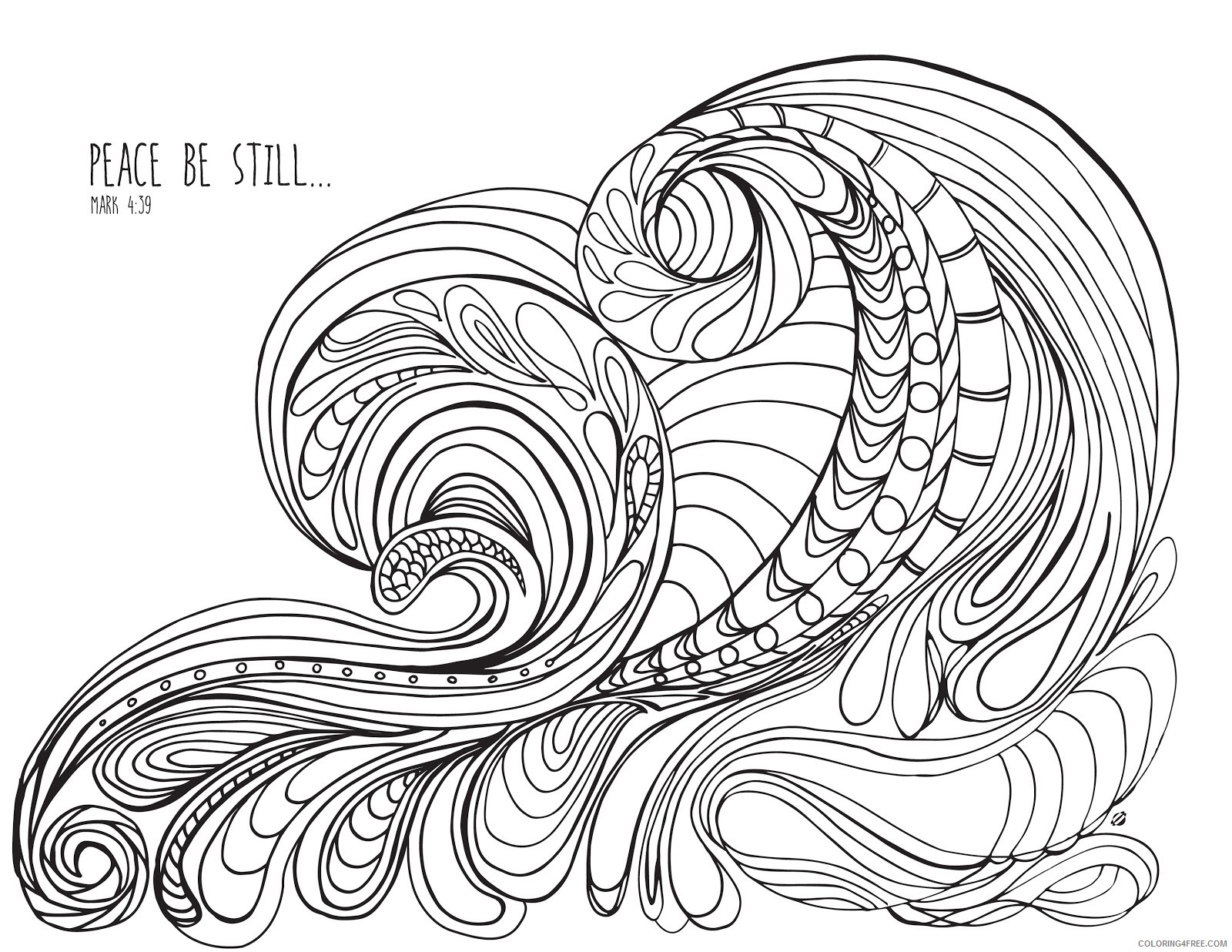printable grown up coloring pages paisley Coloring4free