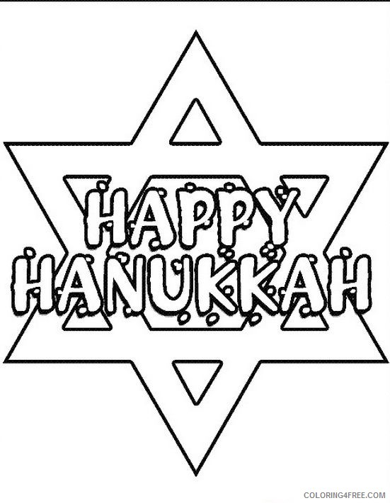 printable hanukkah coloring pages Coloring4free