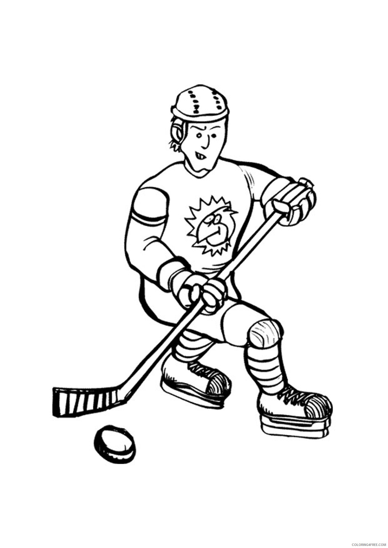 printable hockey coloring pages Coloring4free