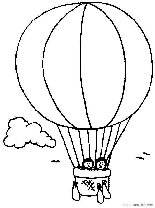 printable hot air balloon coloring pages for kids Coloring4free