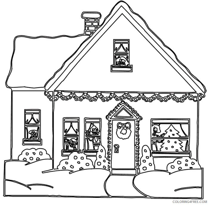 printable house coloring pages Coloring4free