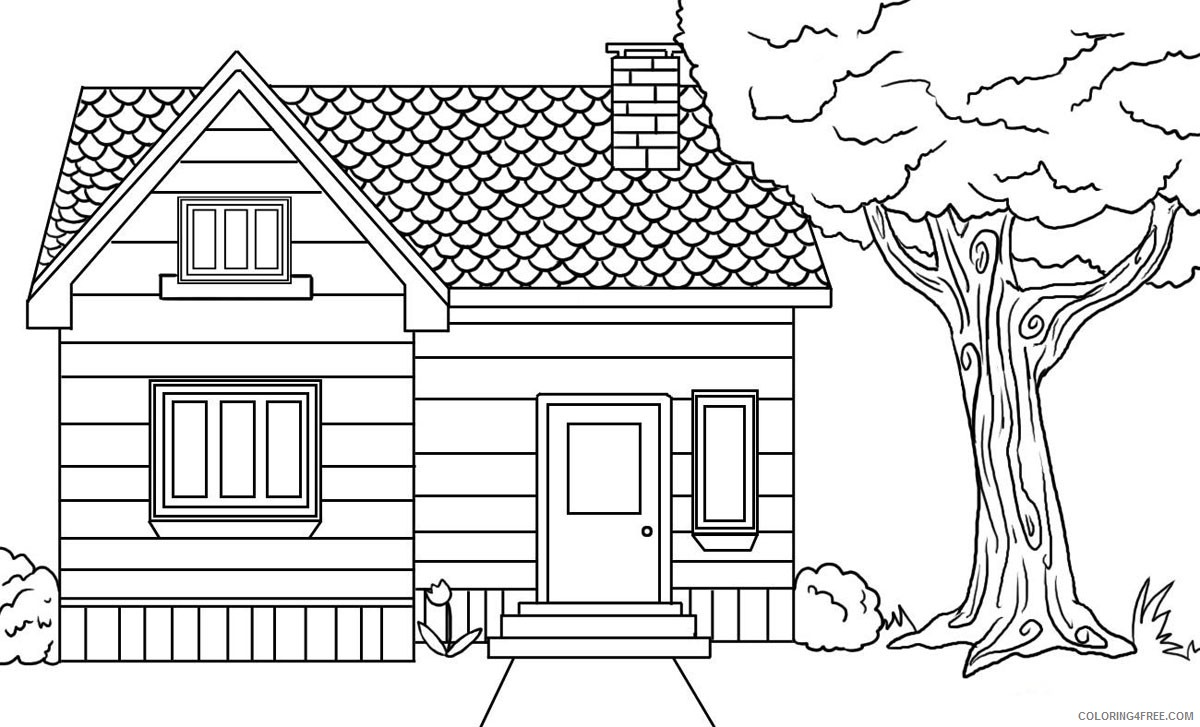 printable house coloring pages for kids Coloring4free