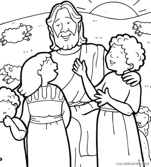 printable jesus coloring pages for kids Coloring4free
