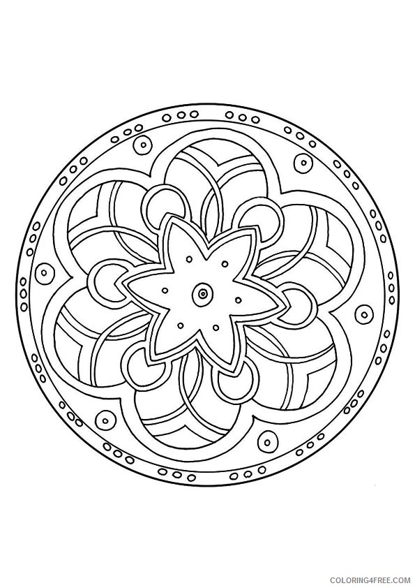 printable kaleidoscope coloring pages Coloring4free