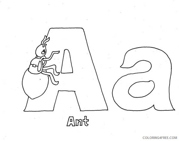 printable letter a coloring pages Coloring4free