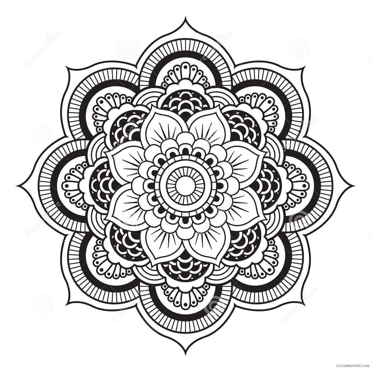 printable mandala coloring pages for adults Coloring4free