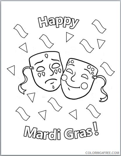 printable mardi gras coloring pages for kids Coloring4free