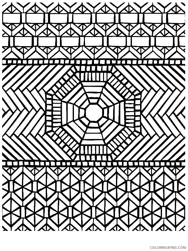 printable mosaic coloring pages Coloring4free