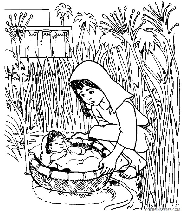 printable moses coloring pages Coloring4free