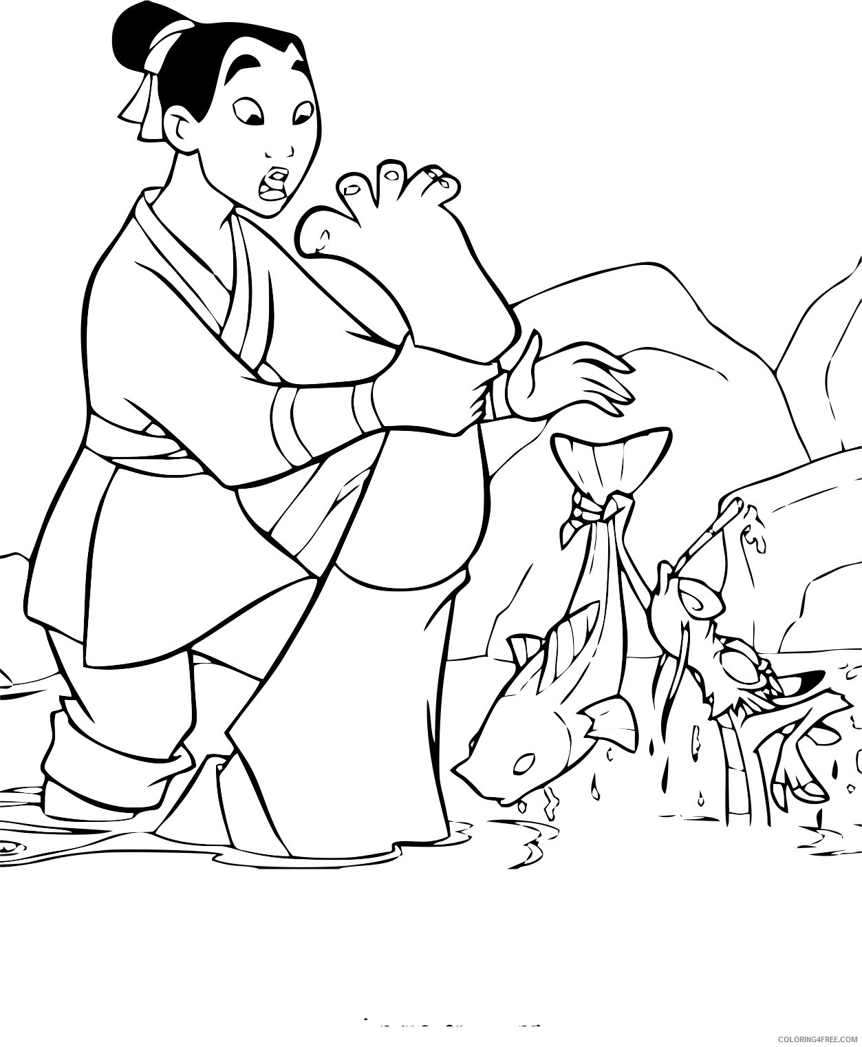 printable mulan coloring pages for kids Coloring4free