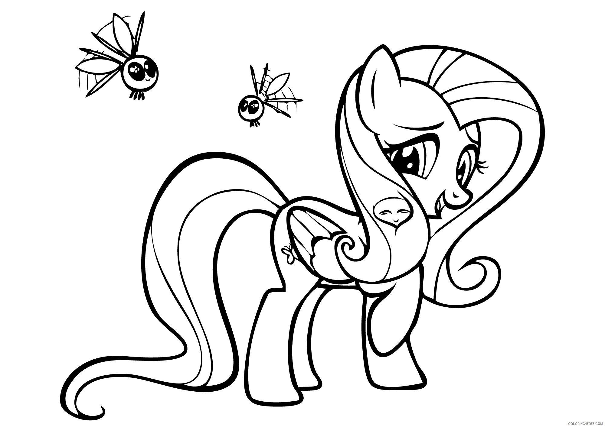Printable My Little Pony Coloring Pages Fluttershy Coloring4free Coloring4free Com