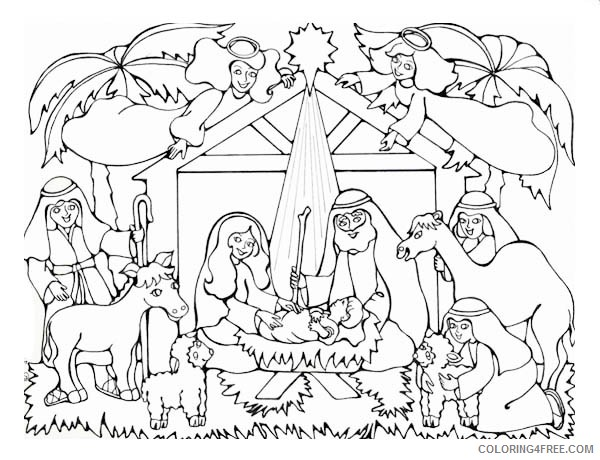 printable nativity coloring pages Coloring4free