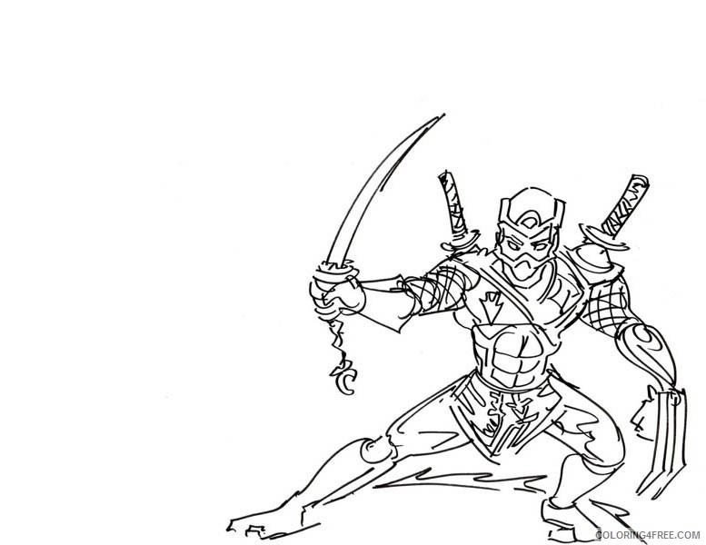printable ninja coloring pages Coloring4free