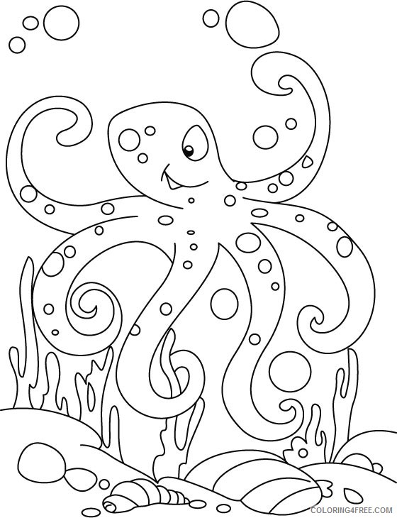 printable octopus coloring pages for kids Coloring4free