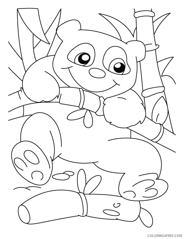 printable panda coloring pages for kids Coloring4free