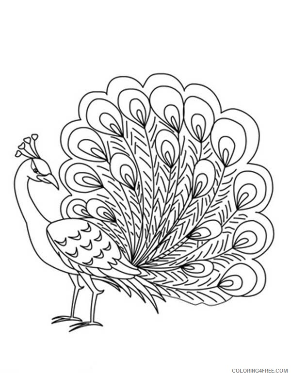 printable peacock coloring pages Coloring4free