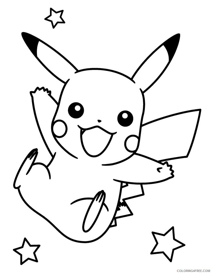printable pikachu coloring pages for kids Coloring4free