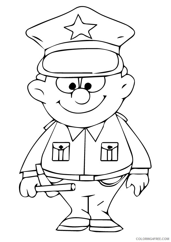 printable police coloring pages for kids Coloring4free