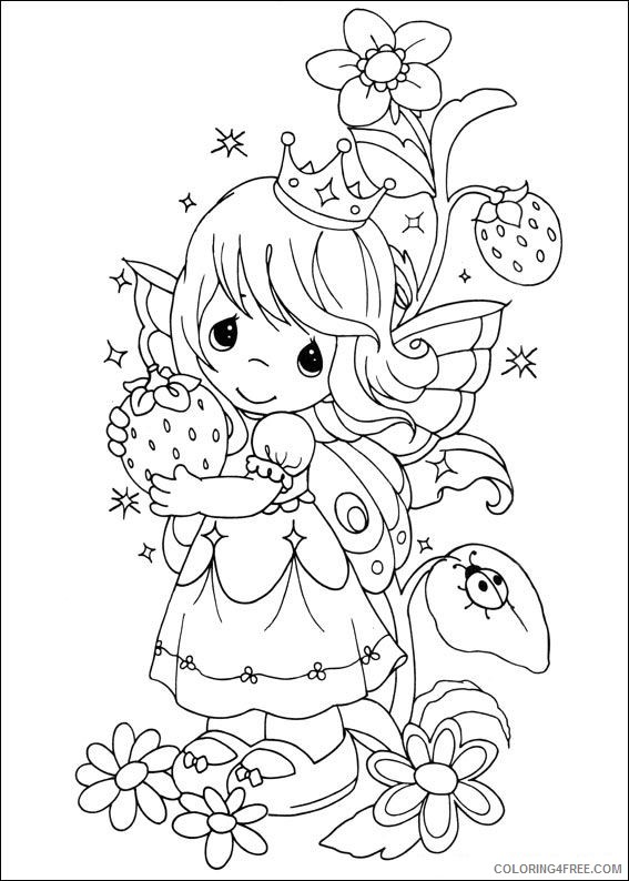 printable precious moments coloring pages for kids Coloring4free