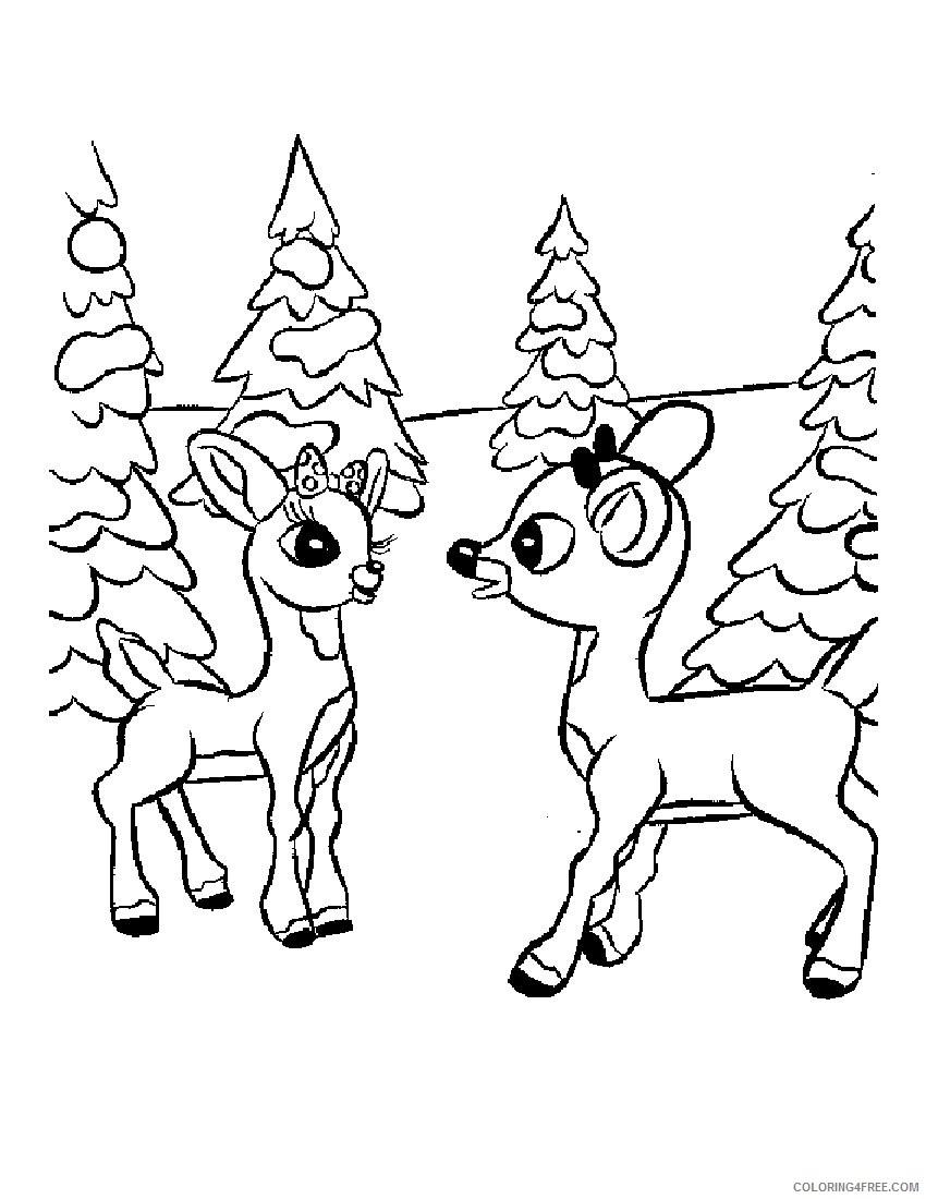 printable reindeer coloring pages Coloring4free