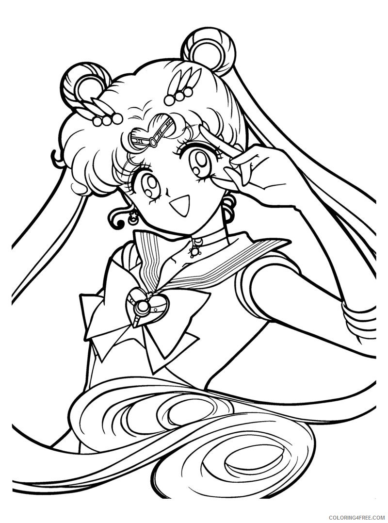 printable sailormoon coloring pages Coloring4free