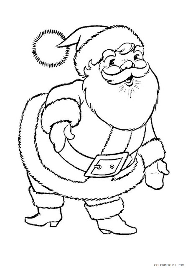 printable santa claus coloring pages for kids Coloring4free