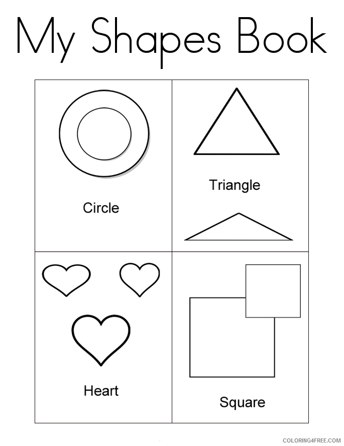 printable shape coloring pages Coloring4free