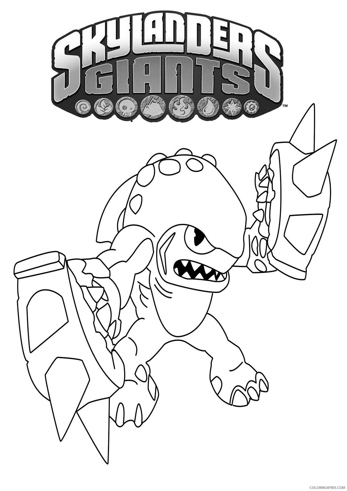 printable skylanders coloring pages for kids Coloring4free