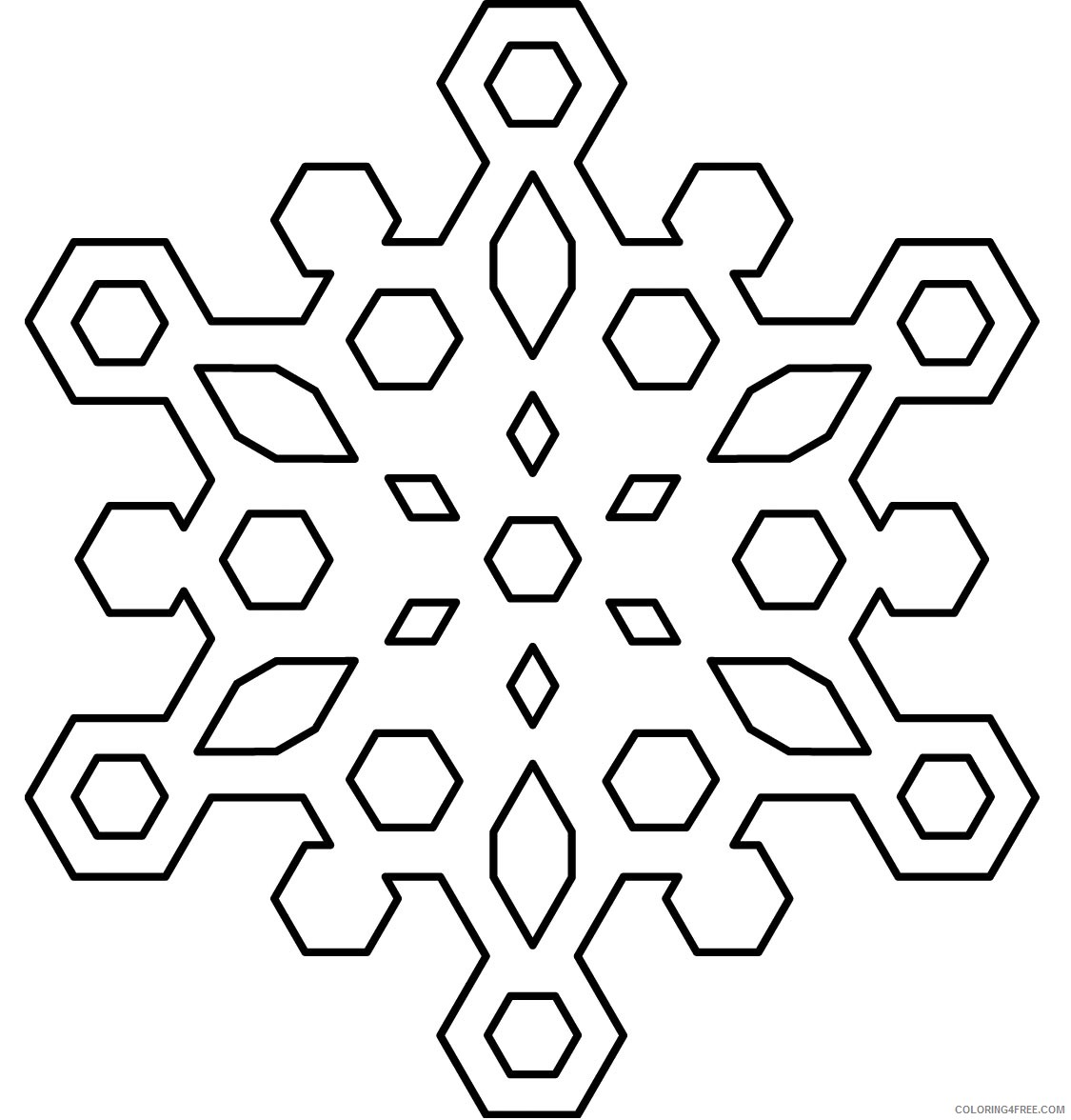 printable snowflake coloring pages Coloring4free