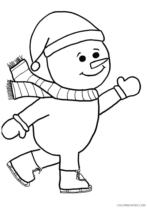 printable snowman coloring pages for kids Coloring4free