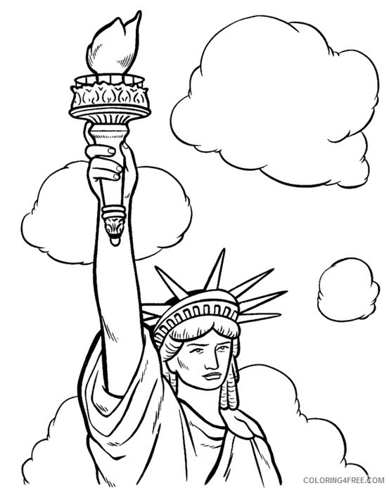 printable statue of liberty coloring pages Coloring4free