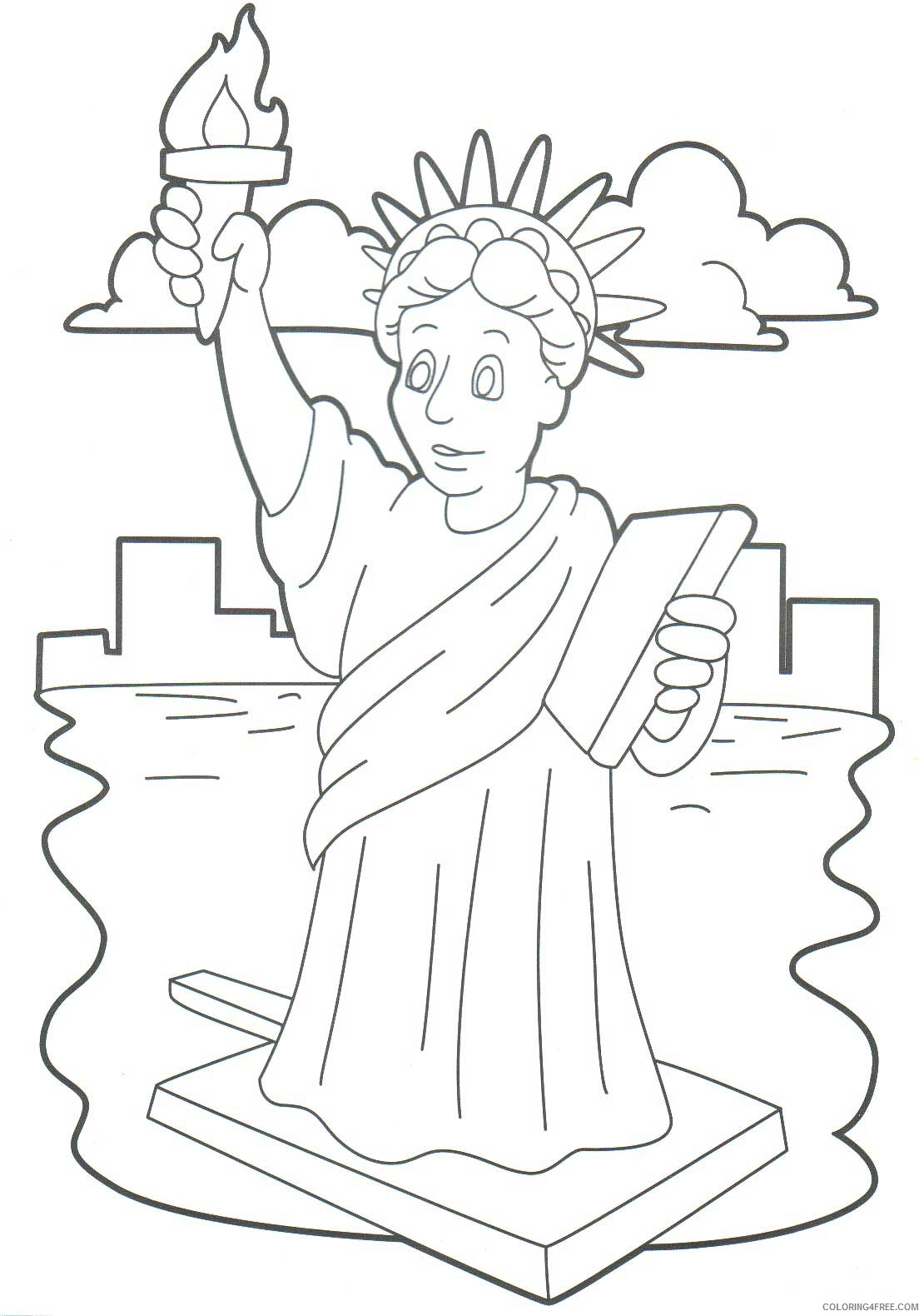 printable statue of liberty coloring pages for kids Coloring4free
