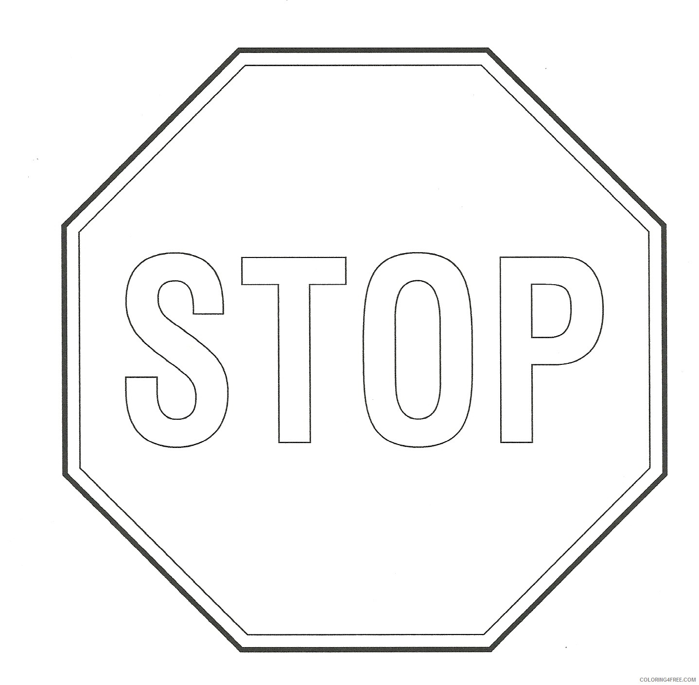 printable stop sign coloring pages Coloring4free