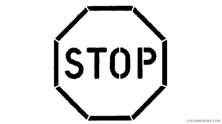 printable stop sign coloring pages for kids Coloring4free