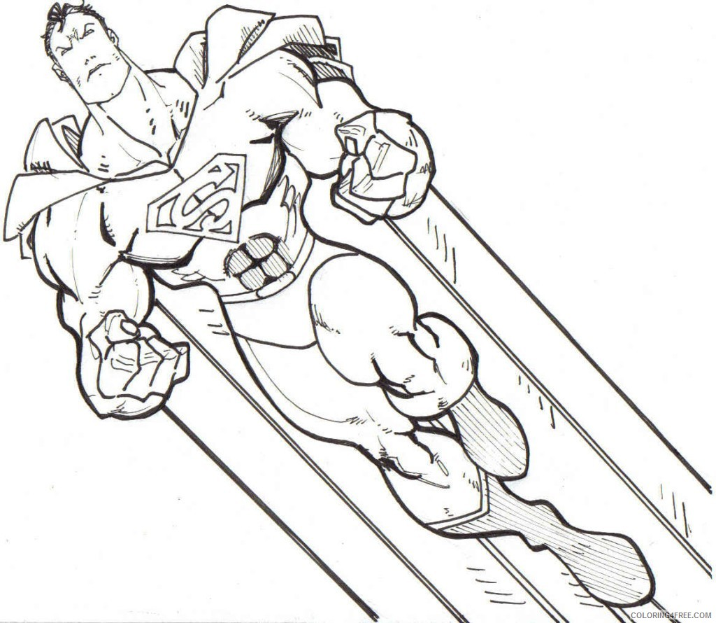 printable superhero coloring pages Coloring4free