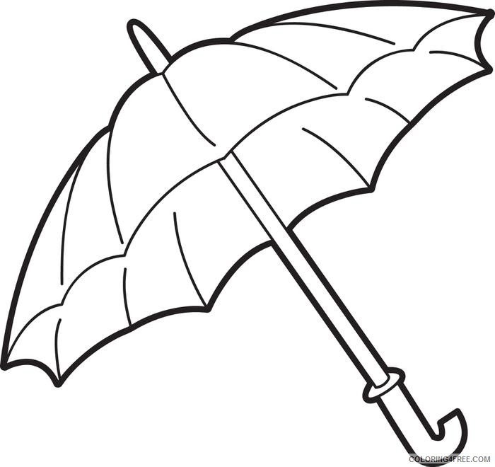 printable umbrella coloring pages for kids Coloring4free