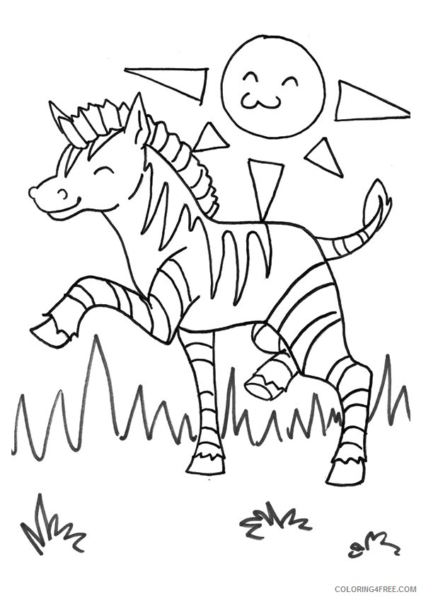 printable zebra coloring pages for kids Coloring4free