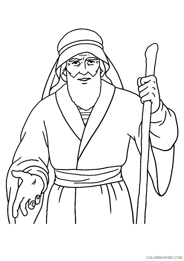 prophet moses coloring pages Coloring4free