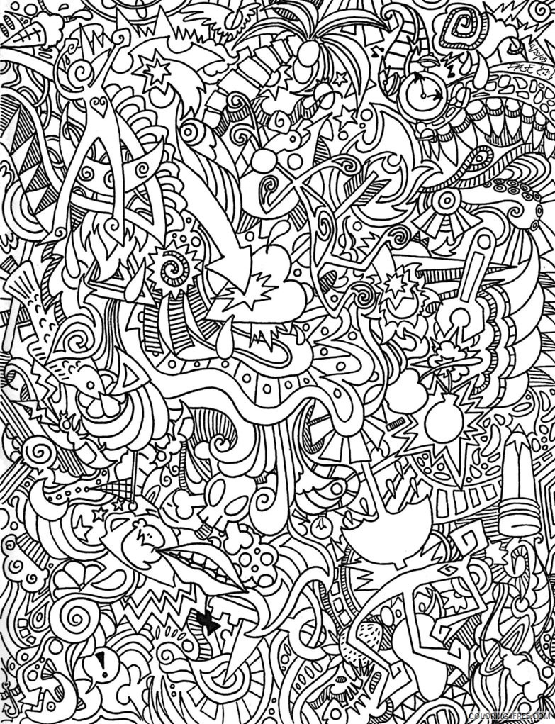 psychedelic coloring pages for adults Coloring4free