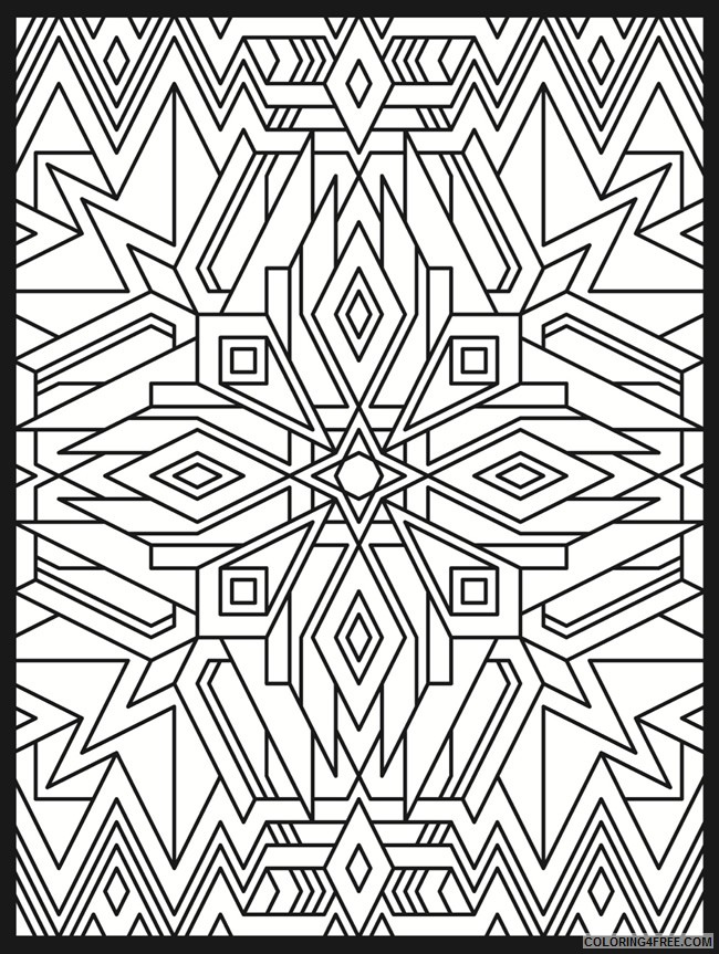 psychedelic coloring pages geometric Coloring4free