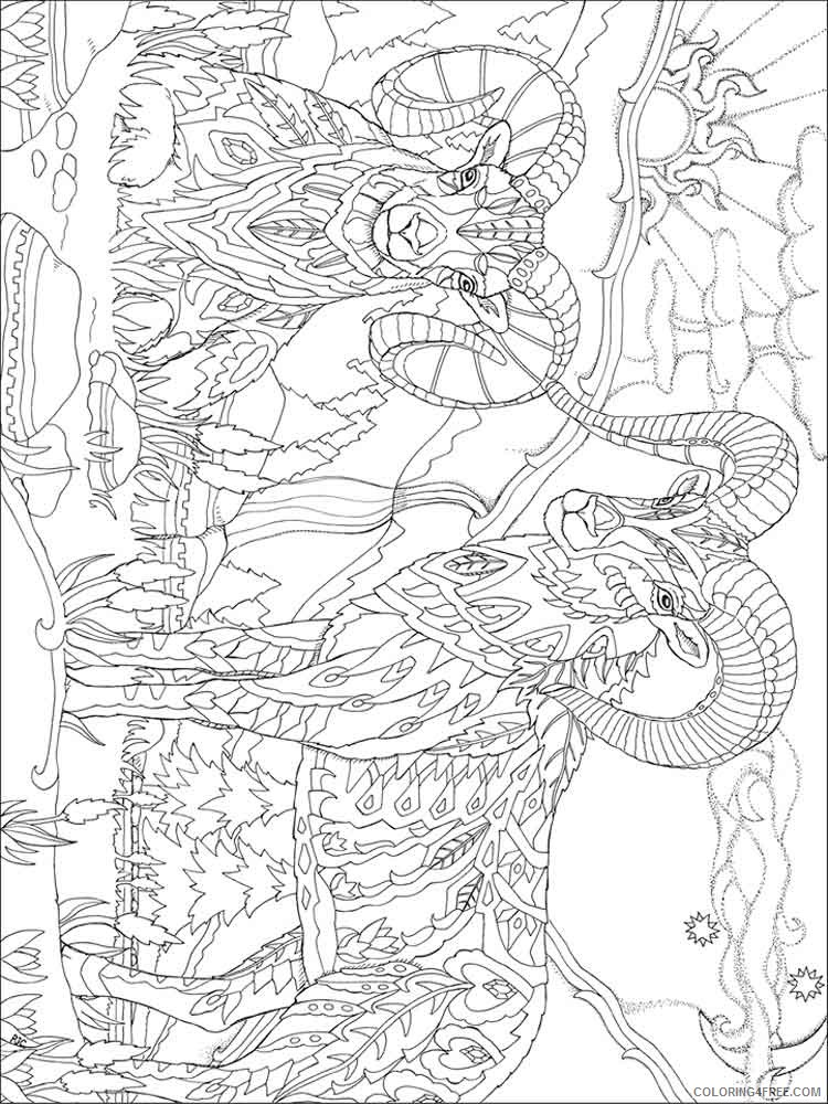 psychedelic coloring pages goat Coloring4free