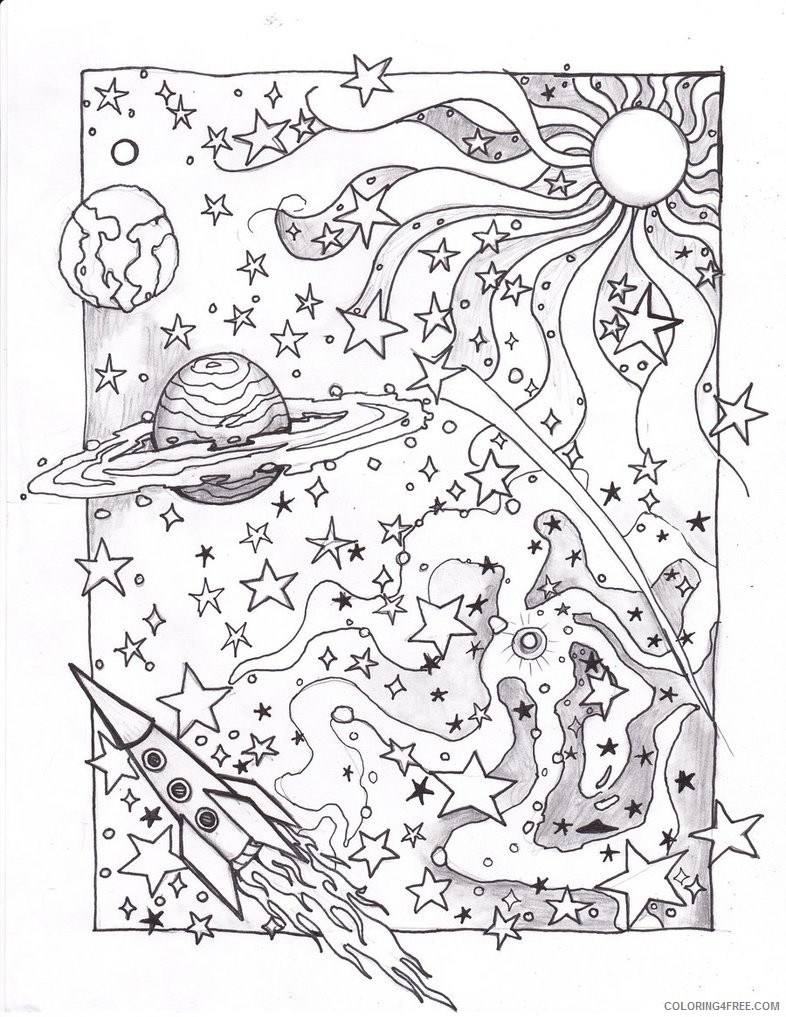 psychedelic coloring pages outer space Coloring4free
