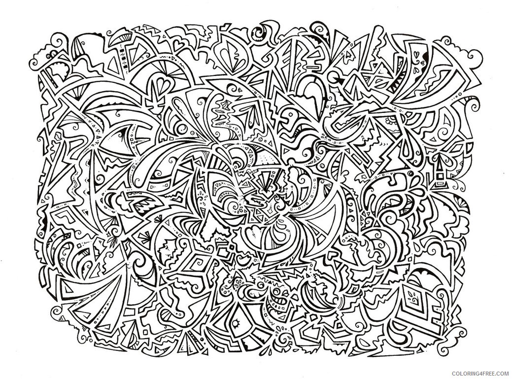psychedelic coloring pages printable Coloring4free