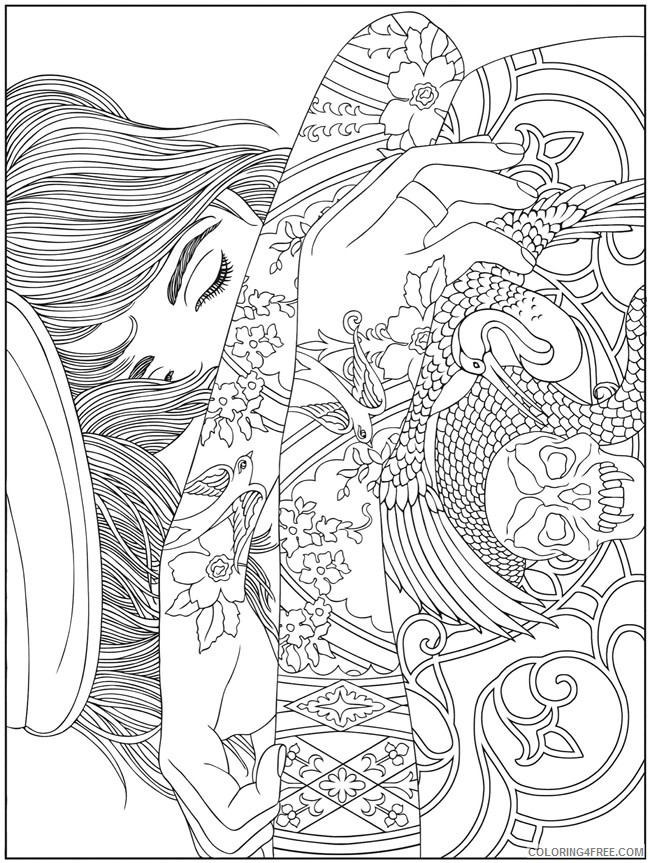 psychedelic coloring pages printable for adults Coloring4free