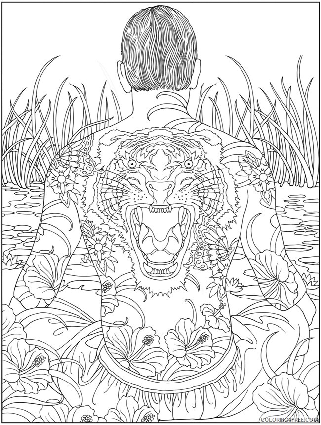 psychedelic coloring pages tattoo Coloring4free