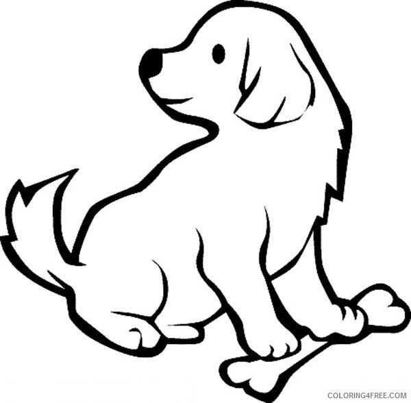 puppies coloring pages for preschooler Coloring4free