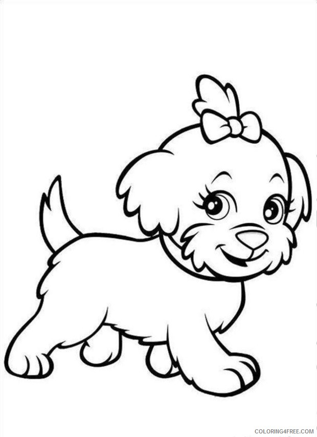 puppies coloring pages printable Coloring4free